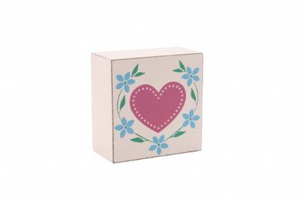 50% off Country style heart block